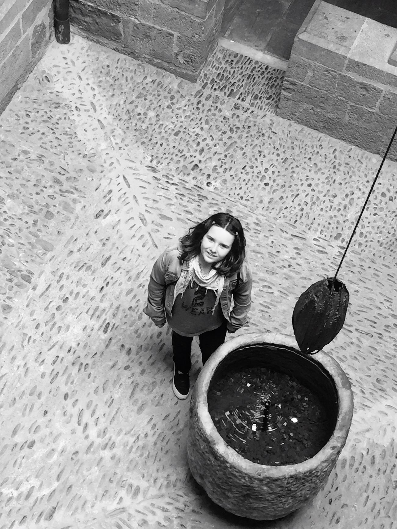 Up Looking At Camera One Woman Only One Person Bw_lover
