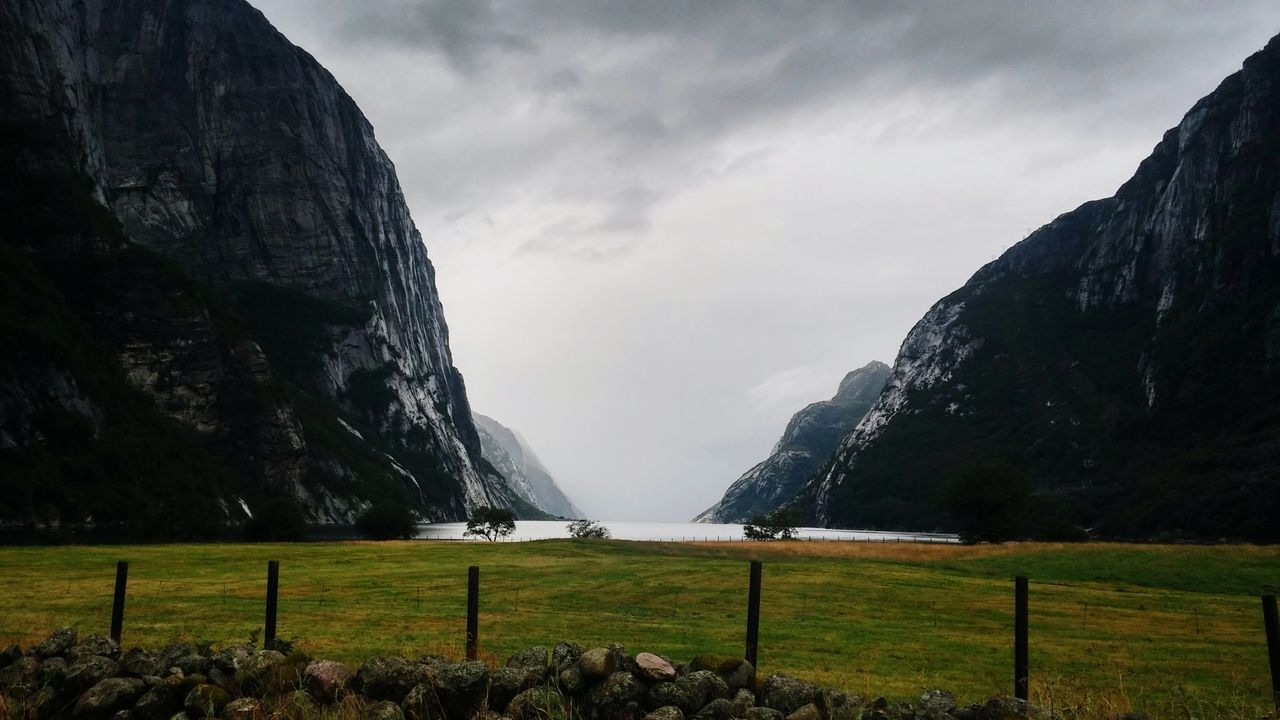 Cloud - Sky Landscape Mountain Outdoors No People Norway Fjord Nature Sea Lysefjord Lysebotn