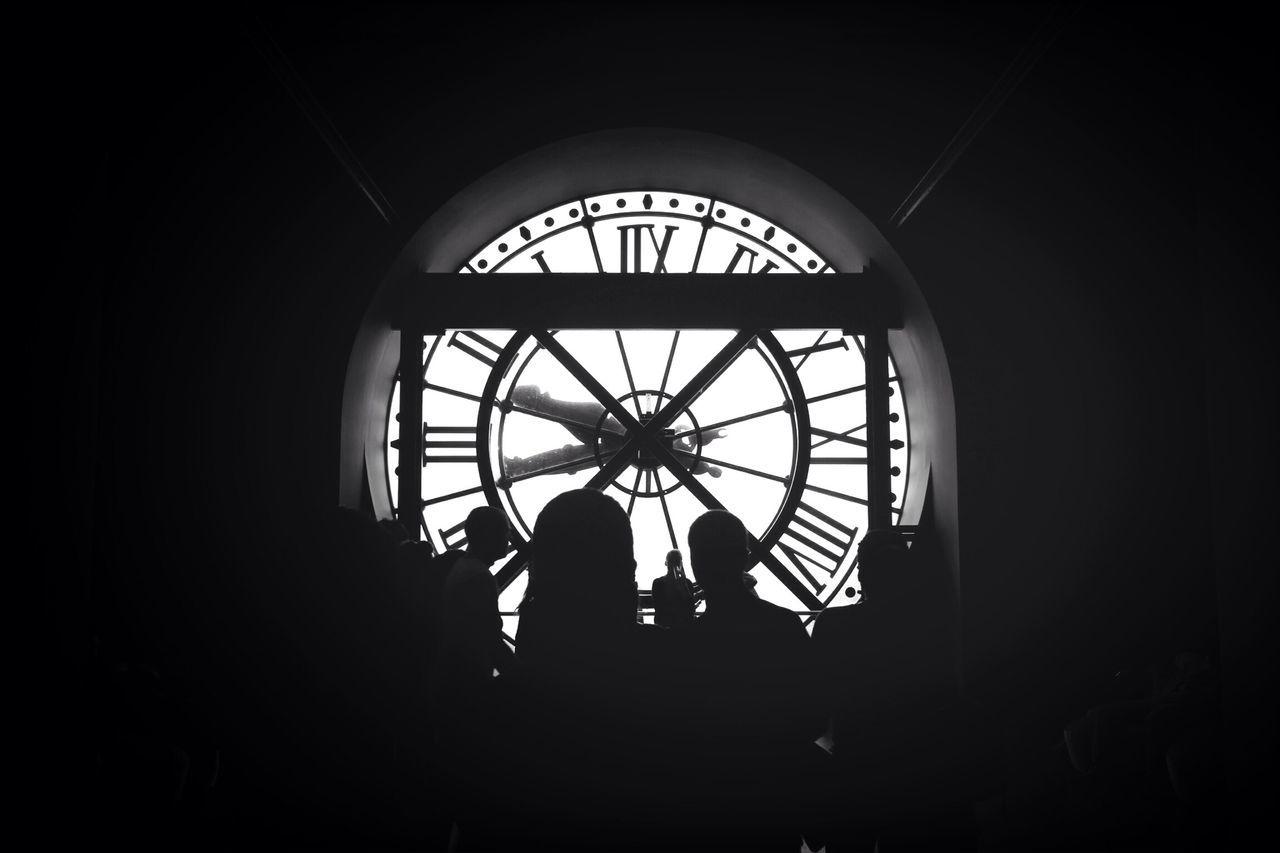 Musée D'Orsay à Paris Silhouette Blackandwhite