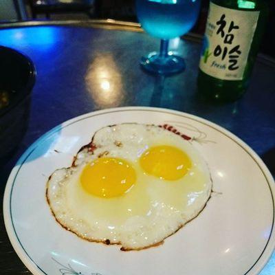 이런기본안주 좋아 계란후라이