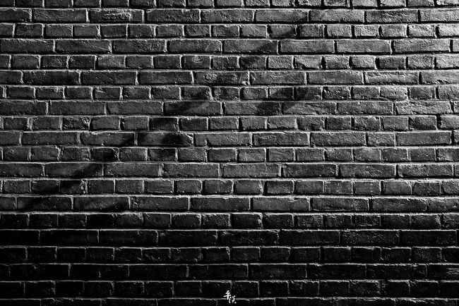 Brick Wall Full Frame Backgrounds Built Structure Architecture Wall - Building Feature Brick Close-up Pattern Textured  Steps City Street Your Design Story Tianjin China Black & White Stree Photography Ricoh Gr