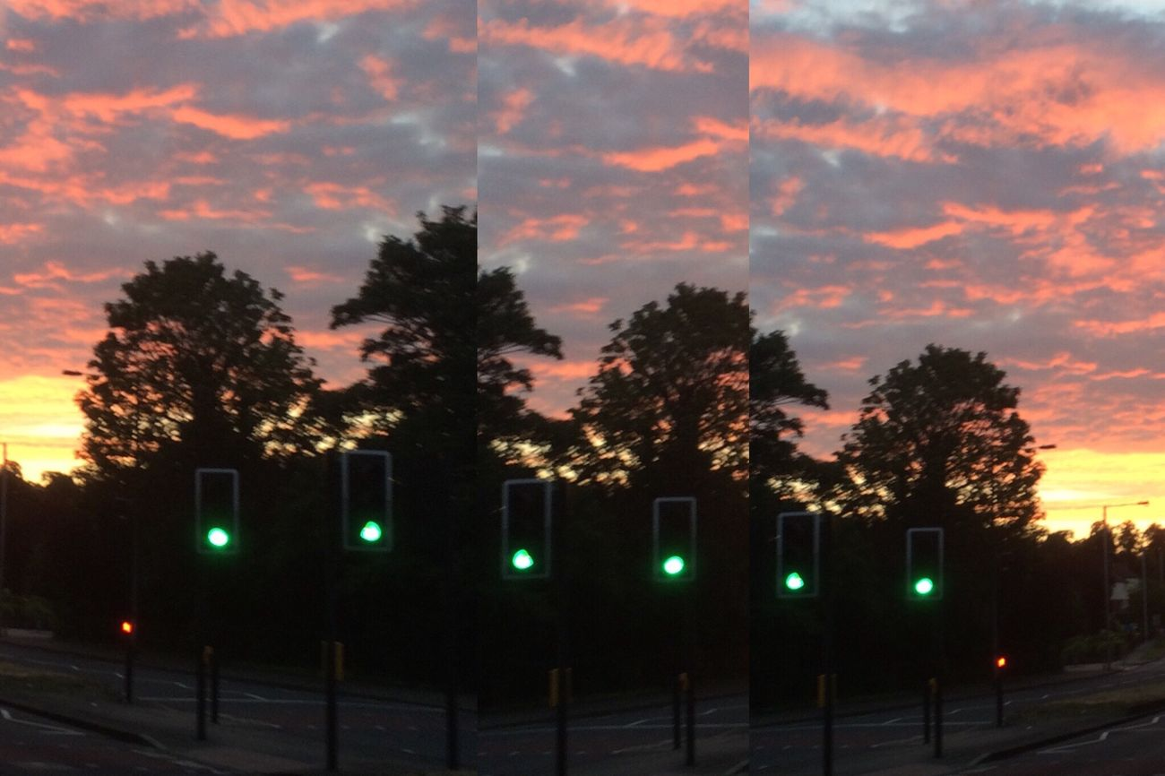 Edit London Sky Clouds Collage Colourful Sunrise