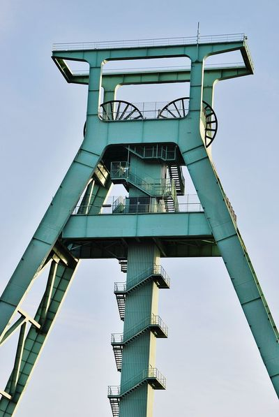 Industrial Culture Industrial Building  Industrialarchitecture Historisch Industrial Historical Building Industriekultur Bochum Showcase: December Hoist Hoistframe Poppethead Shaft Tower Pastel Power Im Wahrsten Sinne