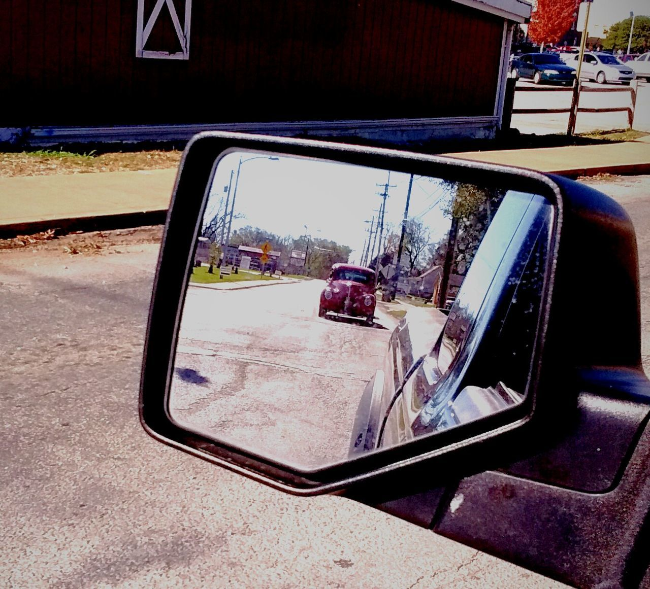 Car Transportation On The Move Travel Road Driving Outdoors No People Day Sky Vehicle Mirror The Drive Arkansas, USA Arkansas_ozarks Arkansas Mirror Picture Mirror