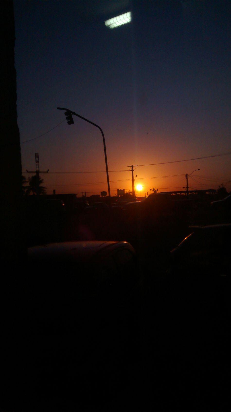 Por do sol. Hello World