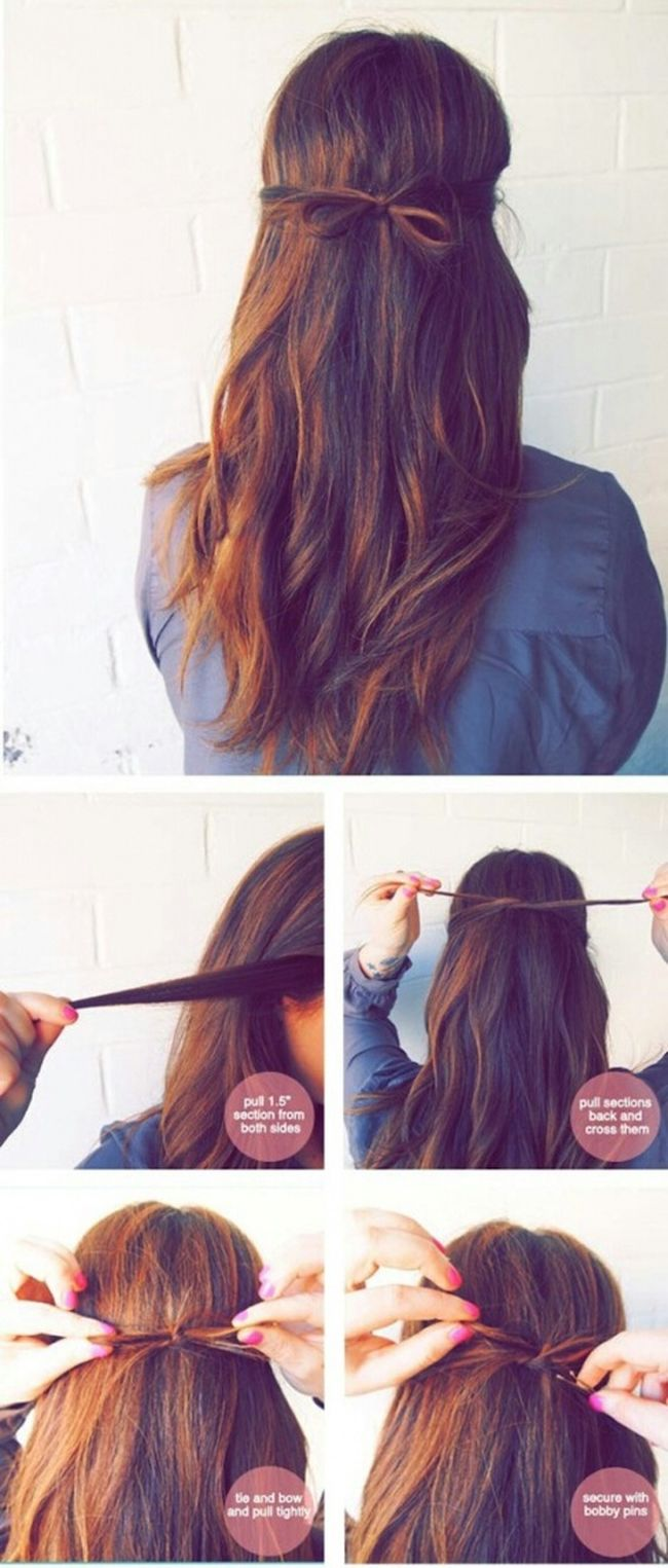 Little cute bow Check This Out Tips Handmade Beauty How To Make DIY Jojobeautytips Handmade Jewellery Hair Hairstyle