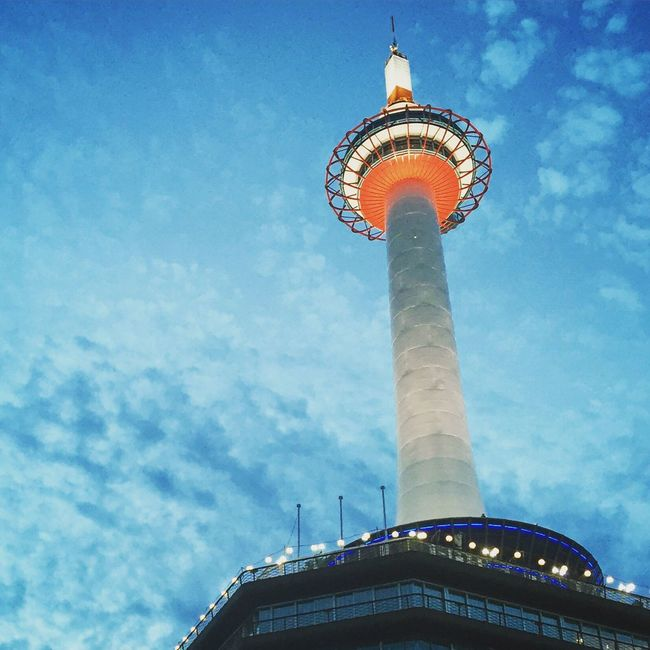 Kyoto tower Kyoto,japan Kyoto Tower Kyoto City Japanese  Japanese Style Architecture Tower Building Exterior Low Angle View Famous Place Communications Tower Blue Cloud - Sky Tall - High Travel Destinations International Landmark Southeastasia Sightseeing Weather