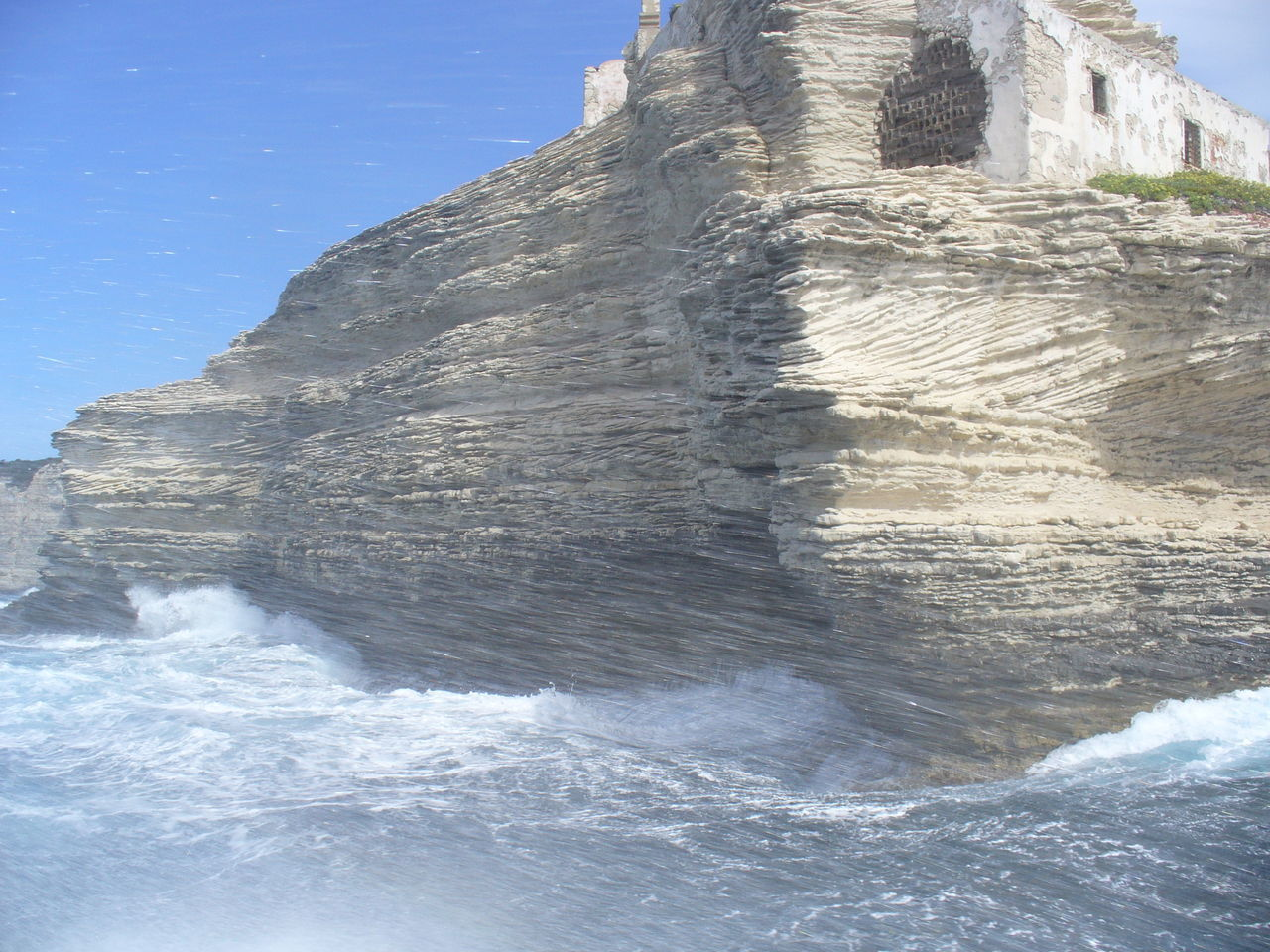 Sea Against Cliff And Building