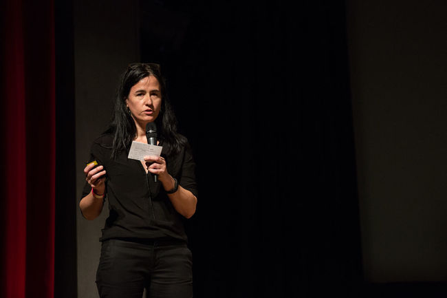 Monica Allende at the EyeEm festival Black Background Casual Clothing Eyeemfestival16 Front View Person Standing Young Adult