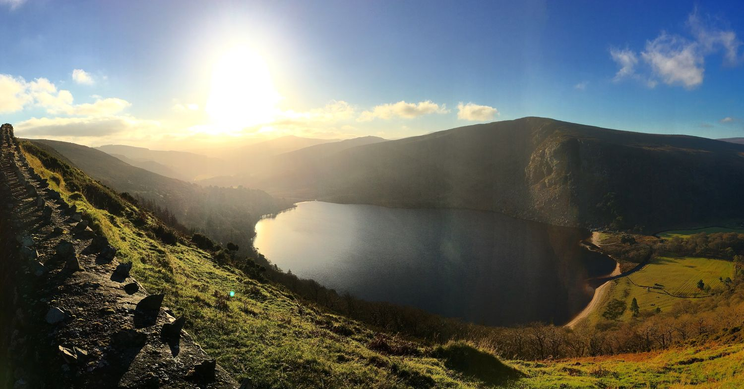 Lake Guinness Mountain Sky Nature Scenics Landscape Tranquility Day No People Wicklow Mountains  Glendalough Travel Photography Traveling Wicklow Lake Ireland