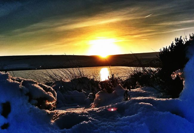 Landscape Yorkshire Sunset Silhouettes Taking Photos
