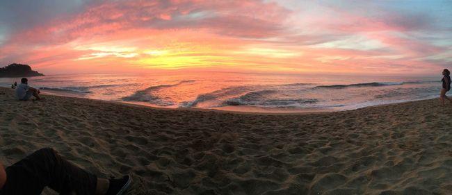 Relajaci-On Sea Beach Water Horizon Over Water Beauty In Nature Sky Sunset FreeTime Disfrutando De La Vida Magic Moments Sinfiltro