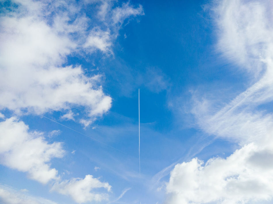 Beautiful stock photos of flugzeug,  Airplane,  Beauty In Nature,  Berlin,  Blue