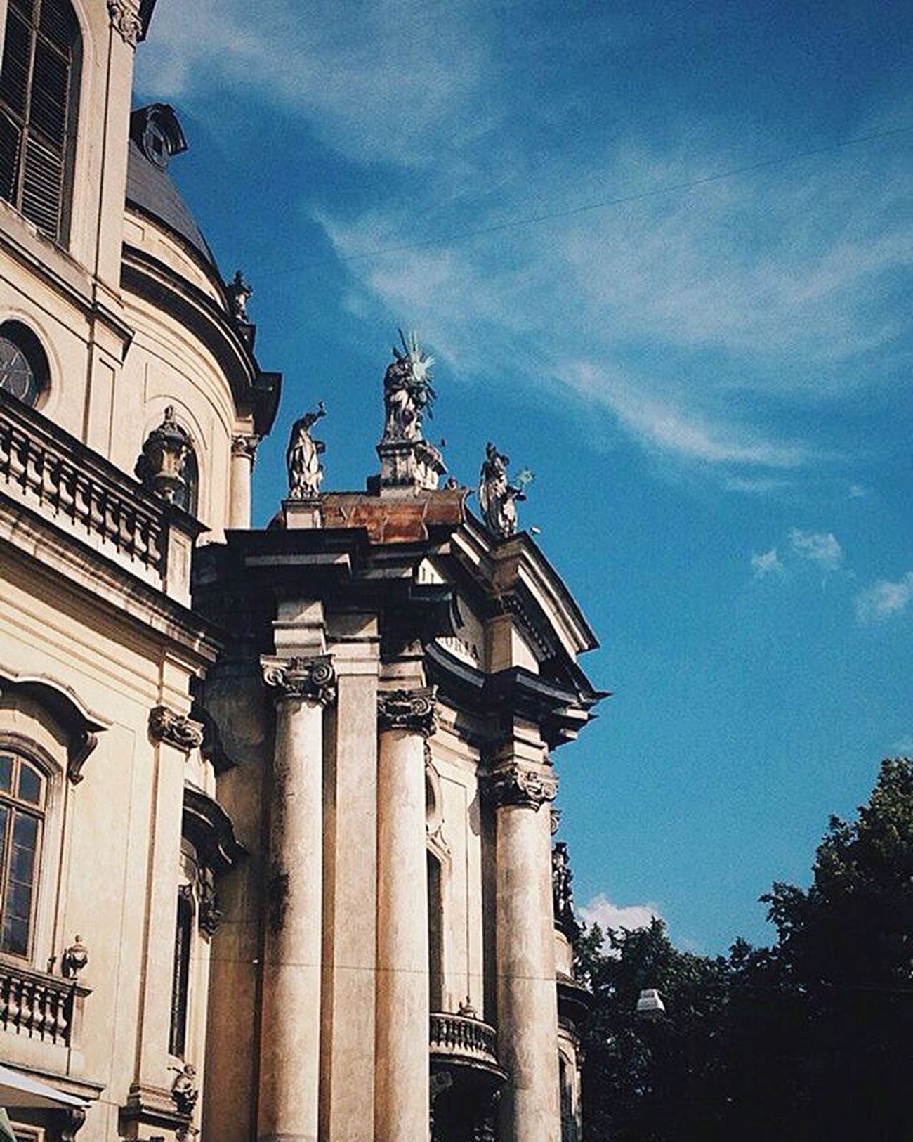 Architecture Built Structure Low Angle View Building Exterior Famous Place History Tourism Architectural Column Day Blue Vscogram Vscogood Vscocam VSCO Outdoors City Architecture Historic Building Old Lvivit Lvivua Lviv1256 Lvivforyou Lviv, Ukraine Lvivgram