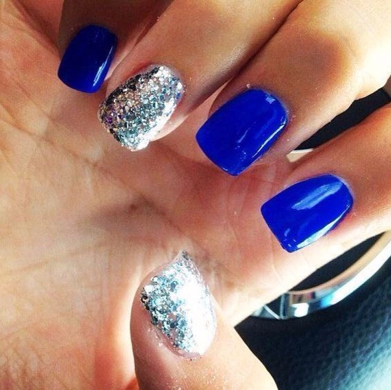 Blue Nails Relaxing Lovely