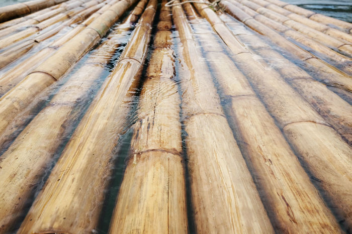 sturdy bamboo wood, a raft made of bamboo, background,bamboo floating on the water over the dam Nature Riverside Bamboo Bamboo Background Bamboo Raft Bamboo Texture Stream Water