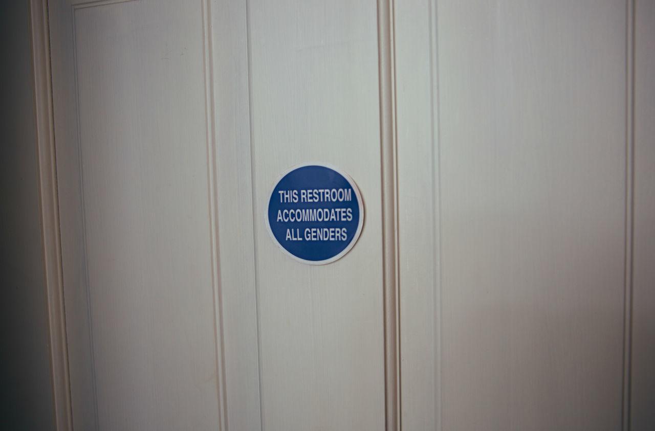 Backgrounds Bathroom Blue Close-up Door Equality Gender GenderEquality Indoors  Logo Message No People Northern Purple Restroom Transgender
