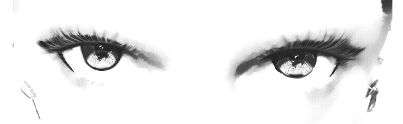 Myeyes Beautifuleyes Looking At Camera Human Eye Close-up Front View Eyeball Eyelash Portrait Eyesight Women Black And White Ipadphotography Self Portrait BW_photography Bw_edit Blackandwhite Photography Black And White Photography Black & White Blackandwhite Bw_ Collection Bw_lover Eyephotography EyesAreTheWindowToTheSoul Eyeselfie