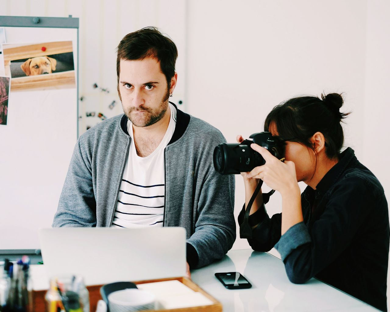 Just another day at the EyeEm office. Togetherness Lifestyles Technology Casual Clothing Holding Startup Camera Office Life At Eyeem