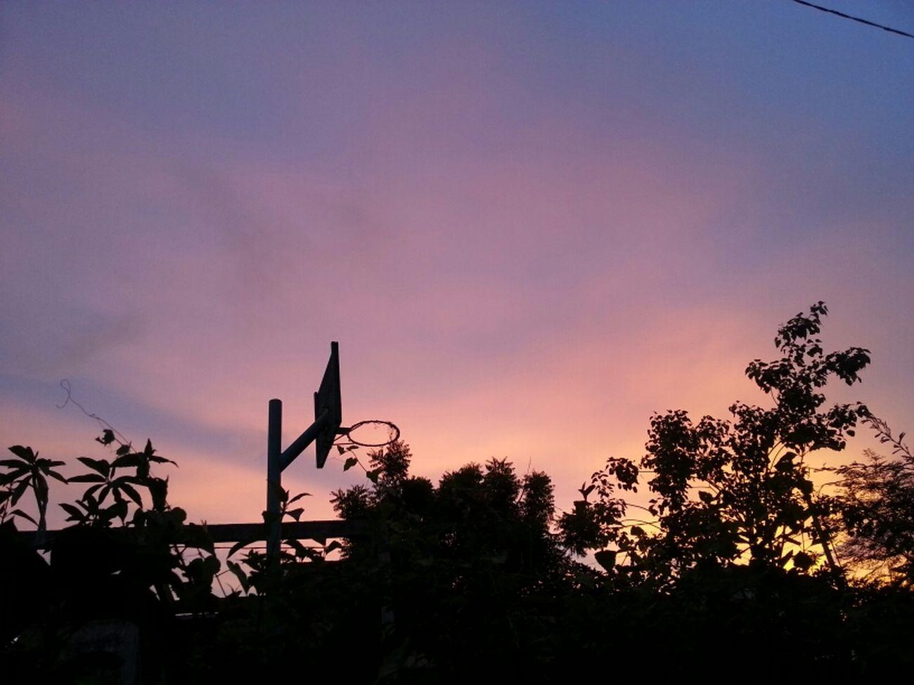 the basket ball ring Sky Sunset