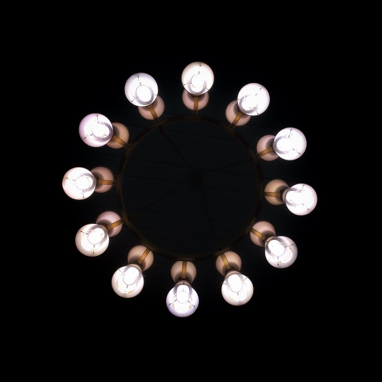 167 / 365 Light Minimalist chandelier iphonography Circle decoration bulbs iphone 6 Symetry Fine Art Photography