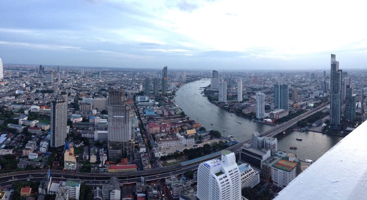 Bangkok Thailand Skyline Sky Bar Vista View Panoramic View Vista Panorámica Tramonto Grattacieli