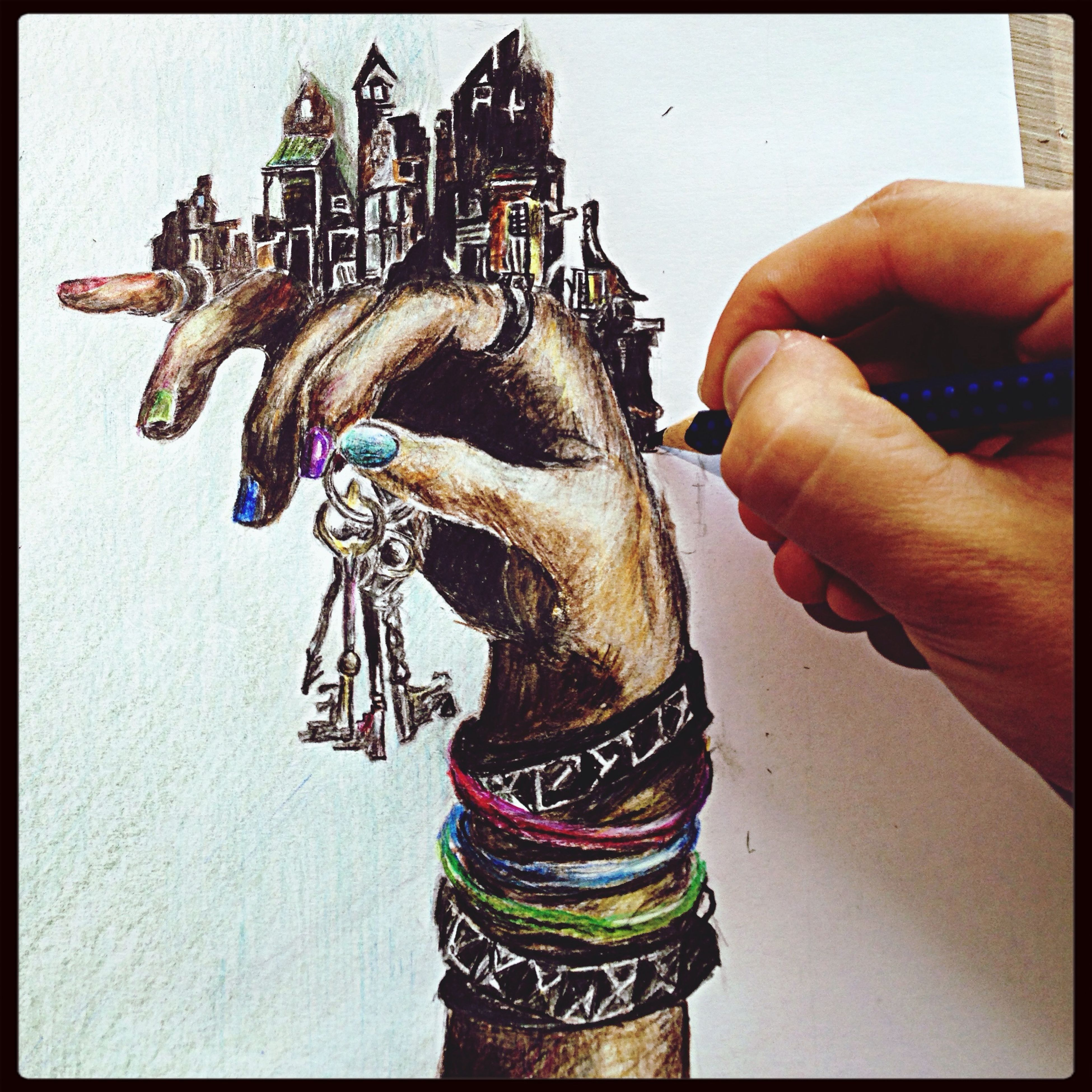 Drawing Hand The House That