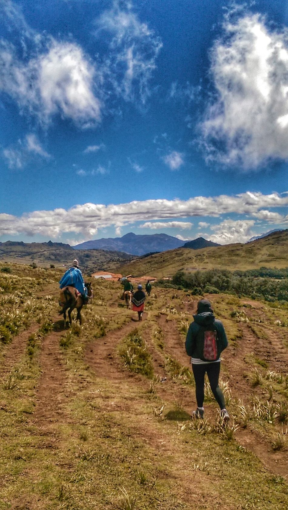 Landscape Outdoors Beauty In Nature Nature Mountain TrekkingDay Rear View Cloud - Sky Hiking Sky One Person People Full Length Men Adult Adults Only Day One Man Only Trekking In Perú