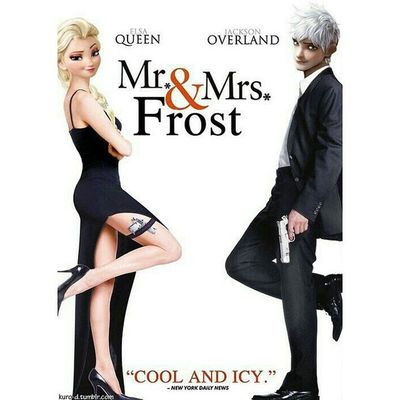 Move over Brangelina, there's a new cool couple in town! Frozen Riseoftheguardians CoolAndIcy Mrandmrssmith Disney