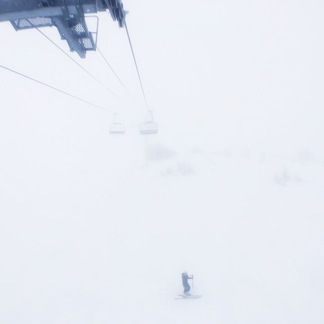 Whiteout White Out Snowing ❄ On The Chairlift Chair Lift Chairlift Fun On The Check This Out Sitting And Looking Looking Beyond  The Great Outdoors With Adobe Lonly Skiing ❄