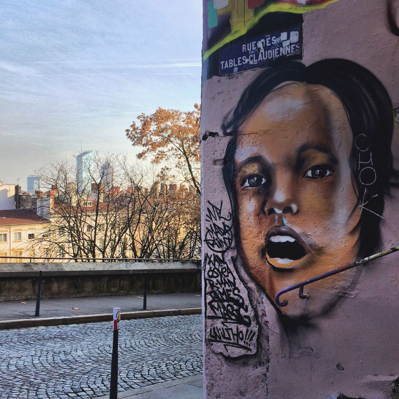 Street Art | Young Adult Young Women Front View Lifestyles Text Outdoors One Person Day Close-up Sky People