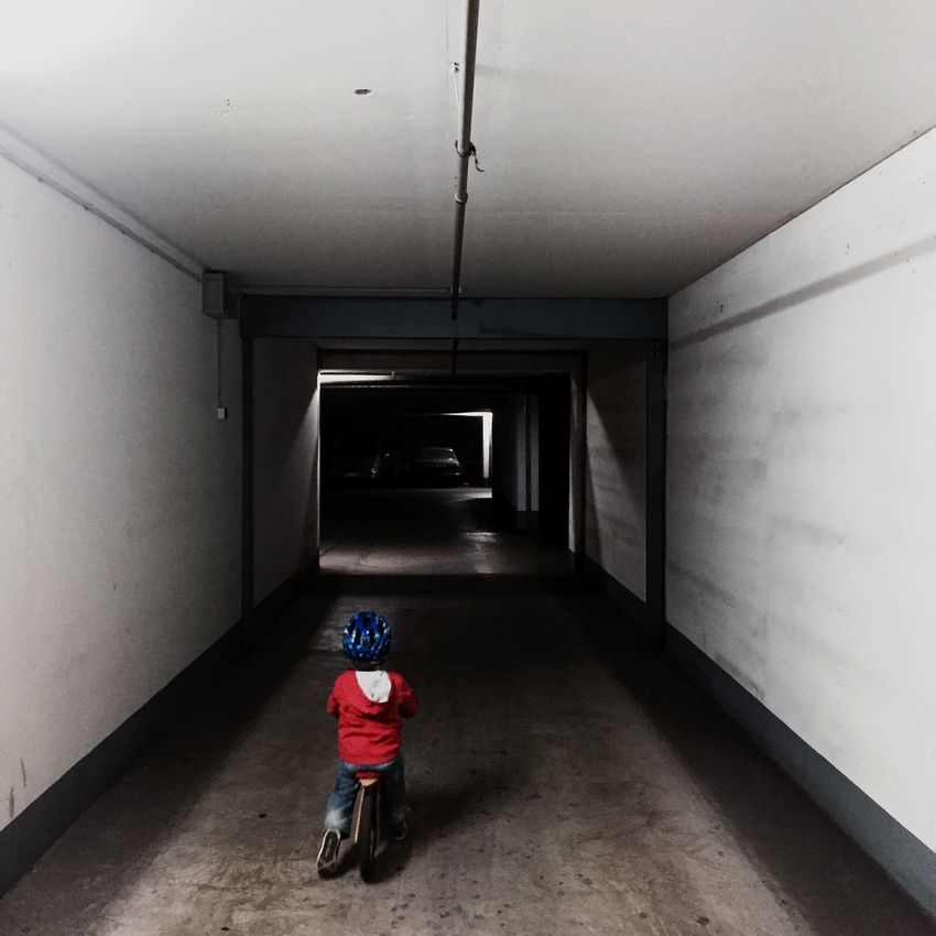 Garage Notes From The Underground Kids Bike Likeabike Urban Geometry Light And Shadow Darkness And Light