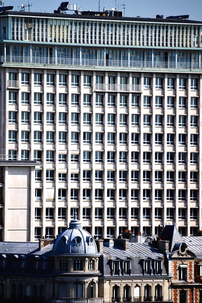 Building Exterior Architecture Built Structure City Outdoors Day No People Windows France Paris Parallelism Repetition Periodic High-rise Building Tower Block