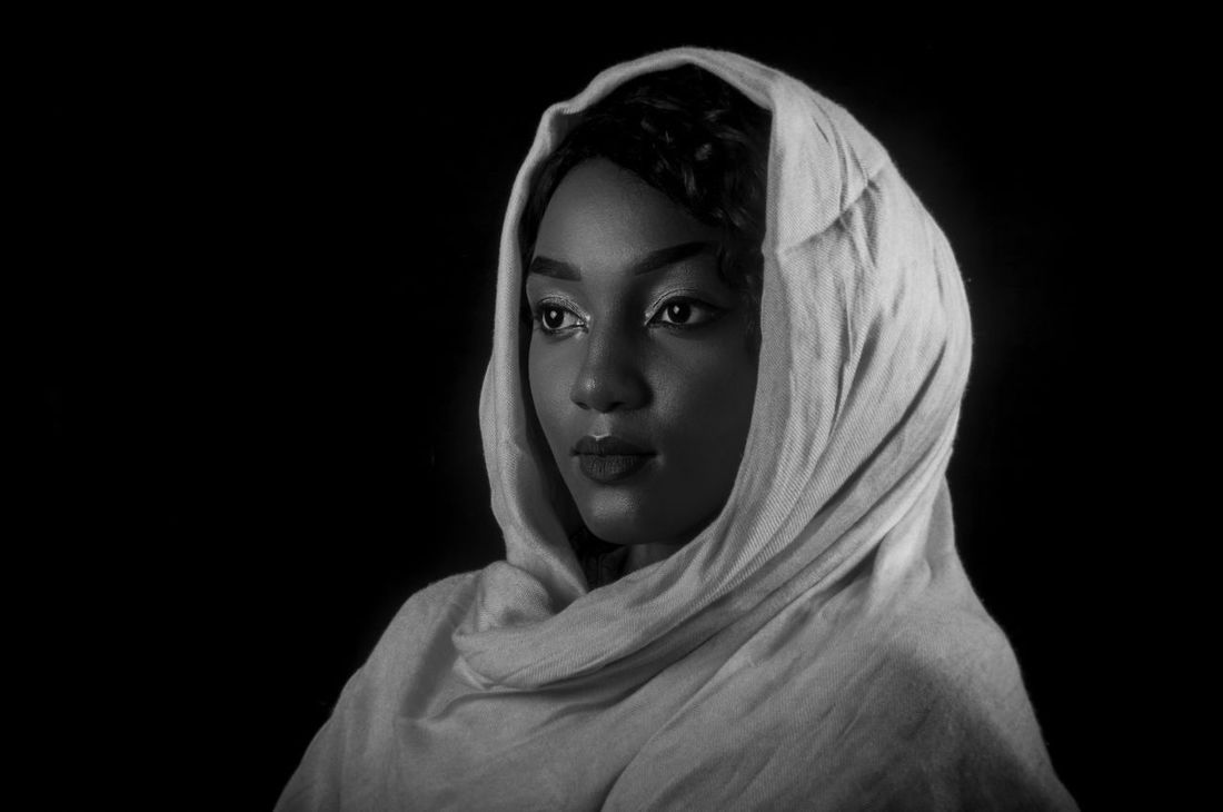 Ramadan Kareem to you all. Adult African Beauty Beautiful Woman Beauty Black Background Blackandwhite Close-up Headshot Islam One Person One Woman Only Popular Photos Portrait Studio Shot Taking Photos Young Adult