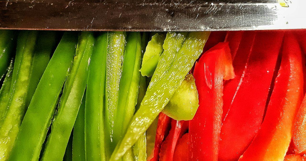 Morrón Rojo Red Fresh Vegetables Food Green Verde Cocinando Verduras Morrones