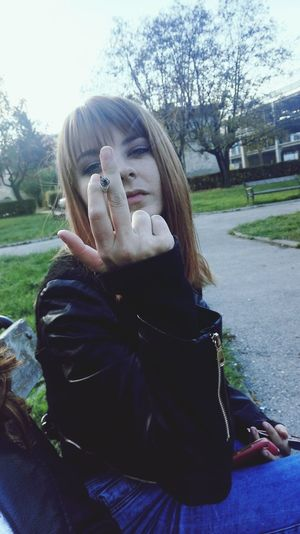 Nature Park Hanging Out Friends Middle Finger Cigarette  Old Photo Memories Dont Care