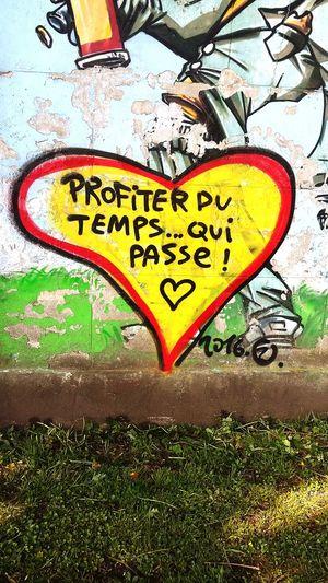 enjoy, time flies Streetart Graffiti Wall Graffiti Walking Around Belgium Genval CarpeDiem  Enjoytime Philosophy Timeflies