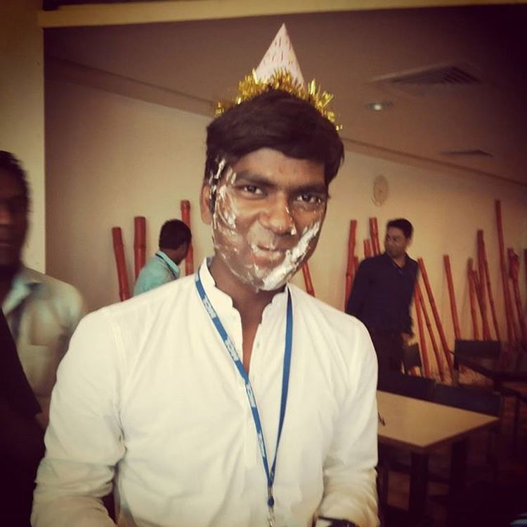 It was my B'day.. HBD To  Me 26august Celebration with my Colleagues Thanks to Hcl and Friends :) :D