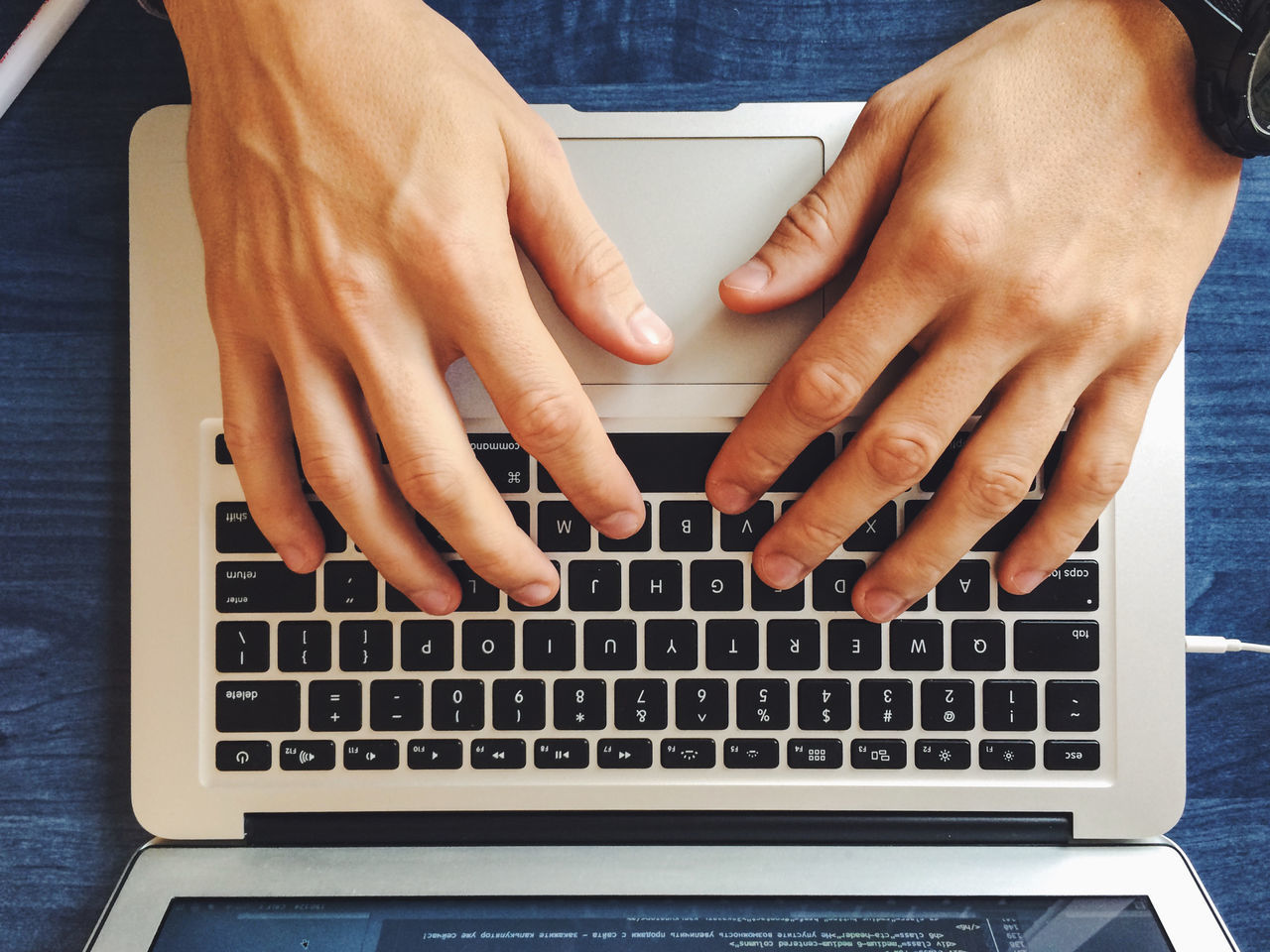 Beautiful stock photos of tastatur,  Communication,  Directly Above,  Human Finger,  Human Hand