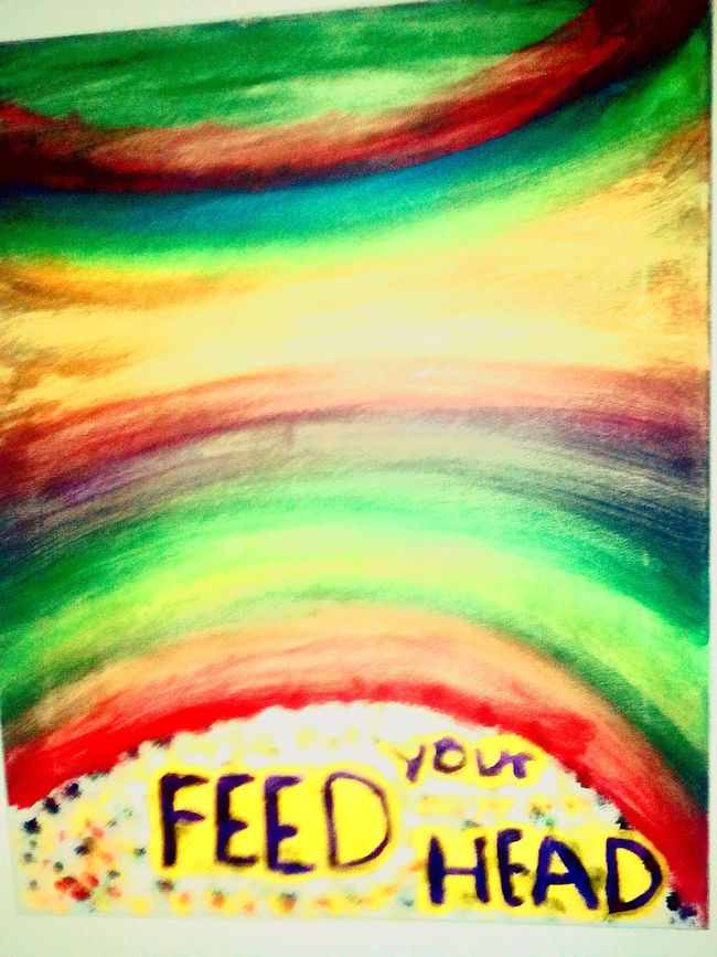 Paintings By Gina Lovebug (Philly) Feed Your Head Jefferson Airplane Rainbow <3