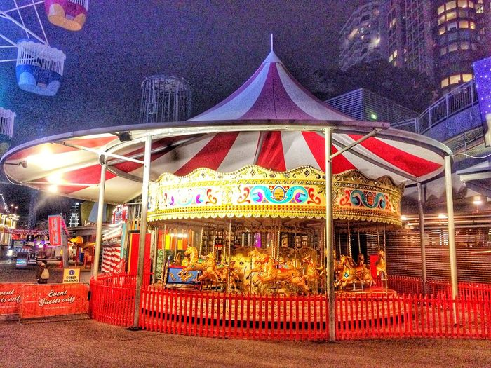 Amusement Sydney Luna Park Illuminated Amusement Park Night Arts Culture And Entertainment Carousel Amusement Park Ride Built Structure Multi Colored Merry-go-round Neon City EyeEmNewHere