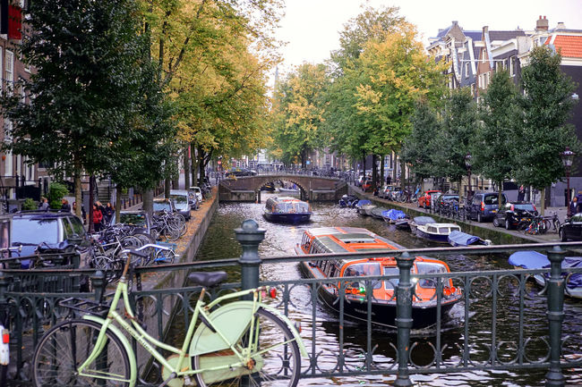 Autumn in Amsterdam - Architecture Bicycle Bridge Building Exterior Check This Out City Exploring Holland Mode Of Transport Randstad Tourism Transportation Travel Water