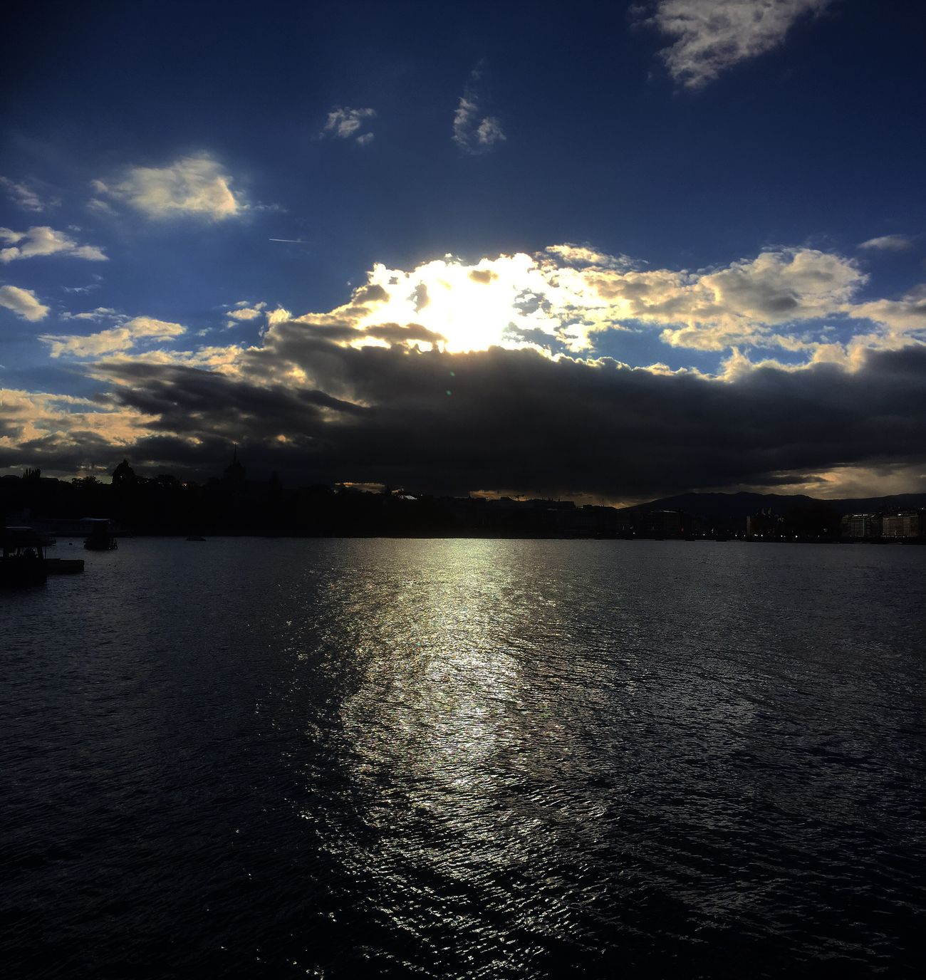 Beautifully Organized ©Iceman Le Photographe Water Sky Beauty In Nature Scenics Reflection Nature Rippled Tranquility Cloud - Sky Outdoors Tranquil Scene Waterfront Sunset No People Mountain Day Beauty In Nature Geneva Landscape Geneve Switzerland