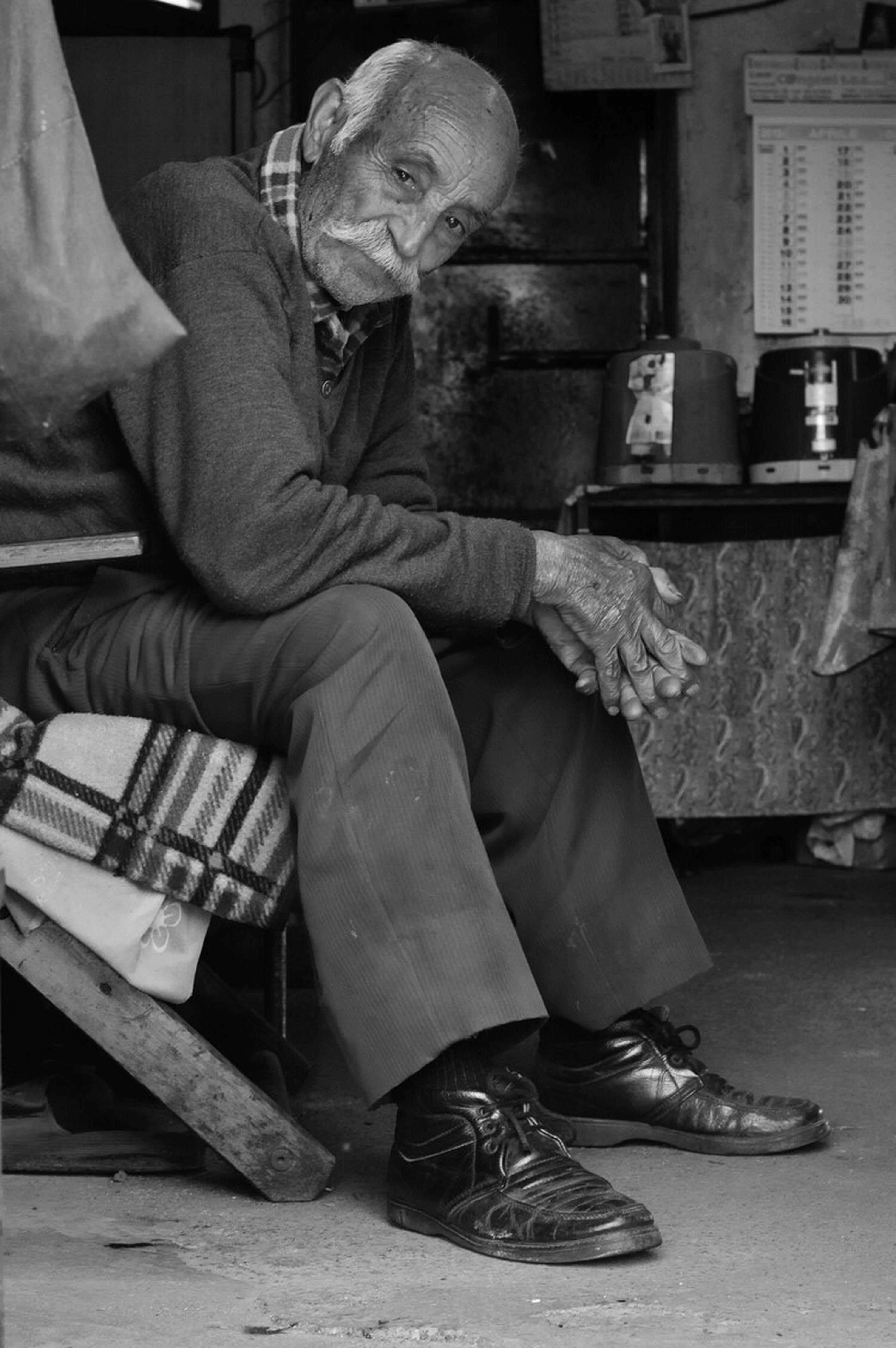 Uniqueness The Zio. Italy Molochio Blackandwhite Nikon Real People Photo Pilgrim Real Life Aged Stare One Person