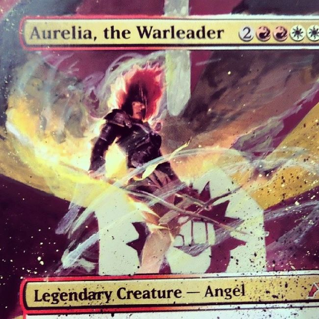 Amazing Alter made by a friend for me :D MTG Alter MagicCards MagicAlter Art Boros AureliaWarLeader MandrakeCards MagicTheGathering Commander BorosLeague
