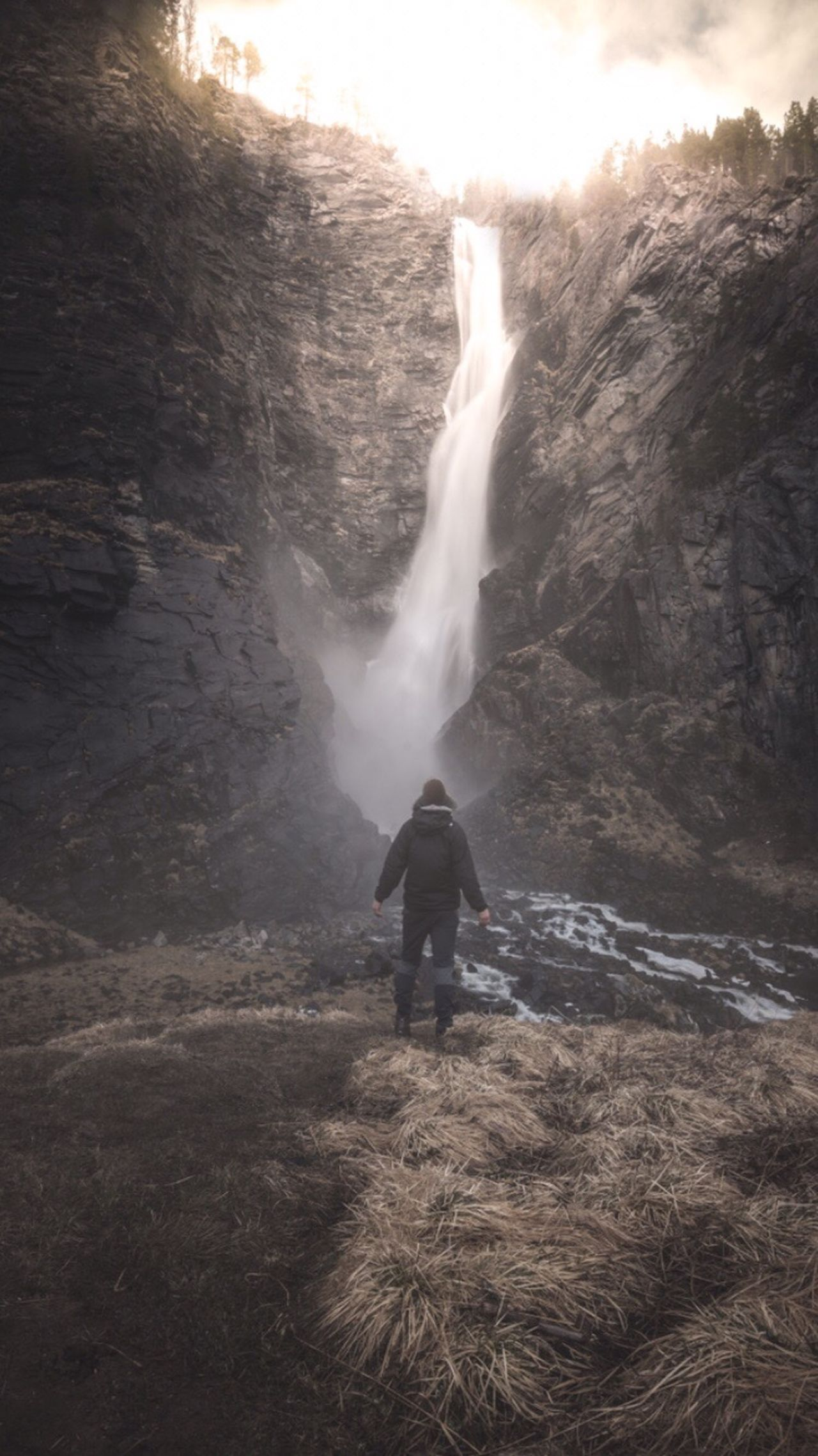 🇳🇴 Dream Chasing 🇳🇴 Motion EyeEm Best Shots Norway EyeEmPaid Waterfall Nature Water Beauty In Nature Long Exposure One Person Outdoors EyeEmNewHere Adventure Power In Nature Leisure Activity Scenics Standing Full Length Sky People Amotan Landscape EyeEm Masterclass Landscape_Collection The Great Outdoors - 2017 EyeEm Awards