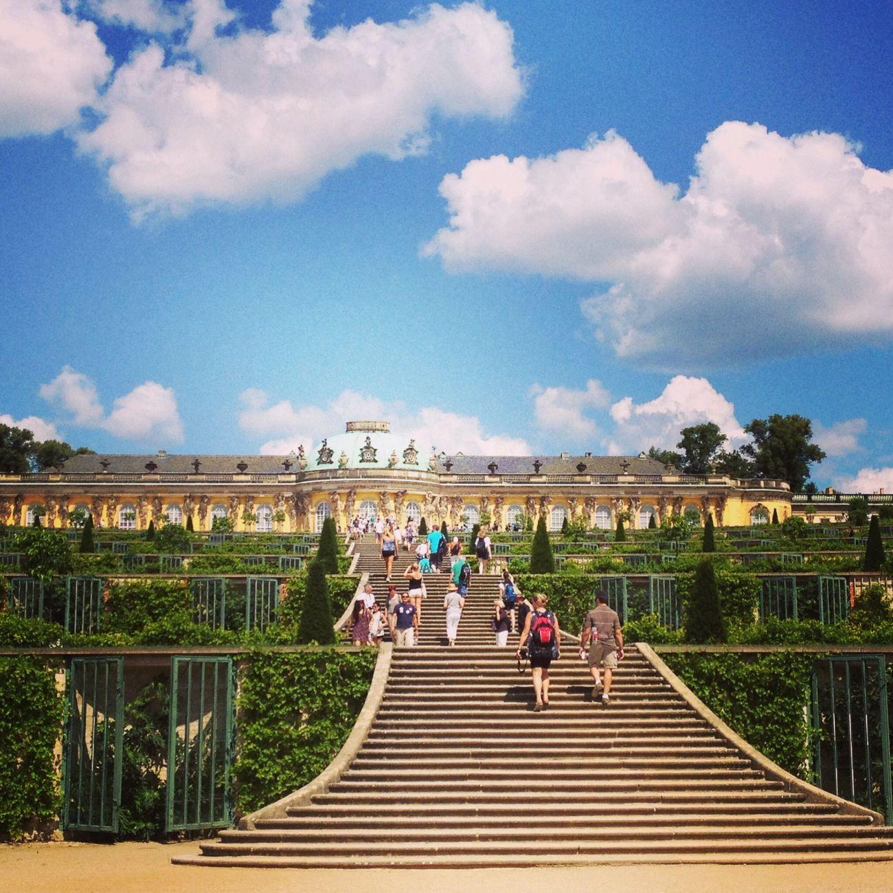 Sans Souci Castle Potsdam Hello World Hanging Out