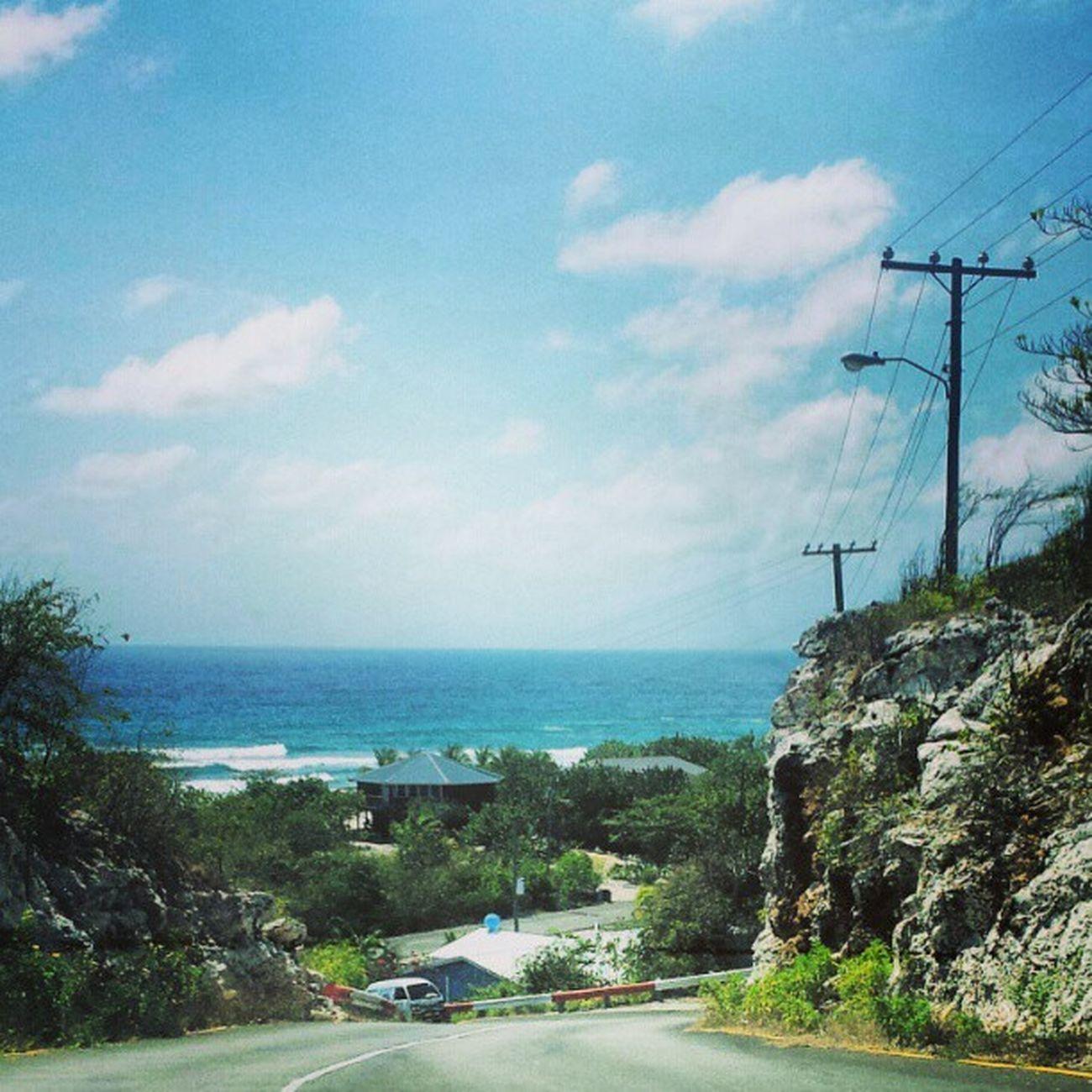 Caymanbrac Southside Drive Caribbean CaymanIslands sea sunshine road ride islandgroove island iloveislands sisterislands bluesky clouds bluesea
