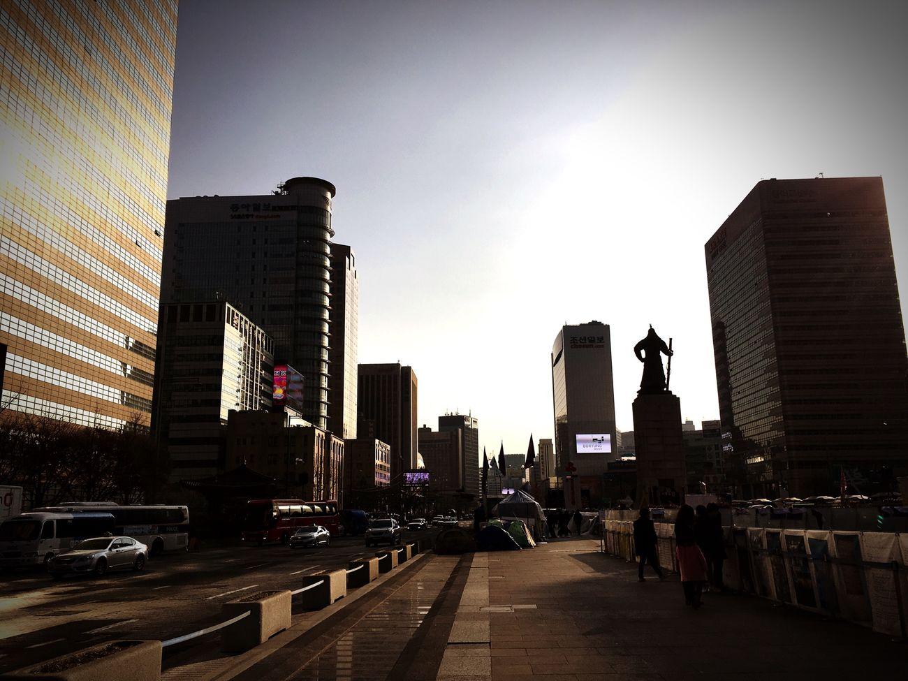 Seoul, Korea Sunset Walking Around Hello World