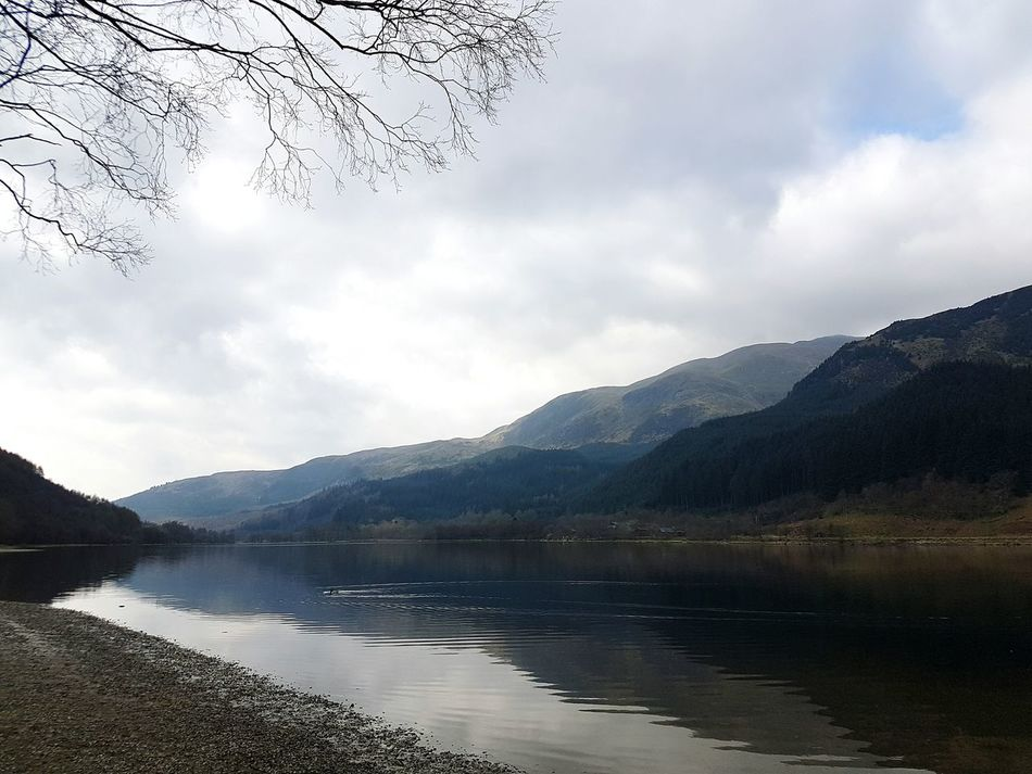 Mountain Water Lake Landscape No People Reflection Nature Outdoors Forest Cloud - Sky Scenics Tree Beauty In Nature Sky Day Dramatic Sky Beauty In Nature Scotland Mountain Range Rural Scene Wallpaper Highlands LochLomond Nature Tree